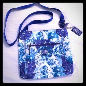 Authentic Floral Coach New York crossbody bag